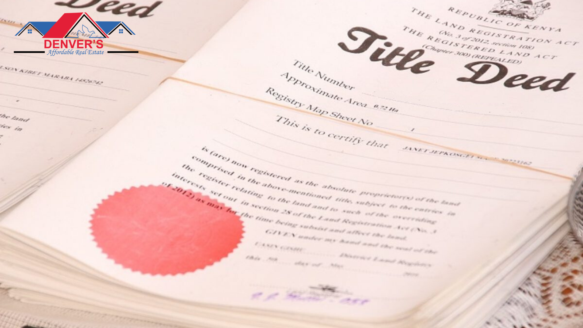 Summary of Title Deed Application in Kenya